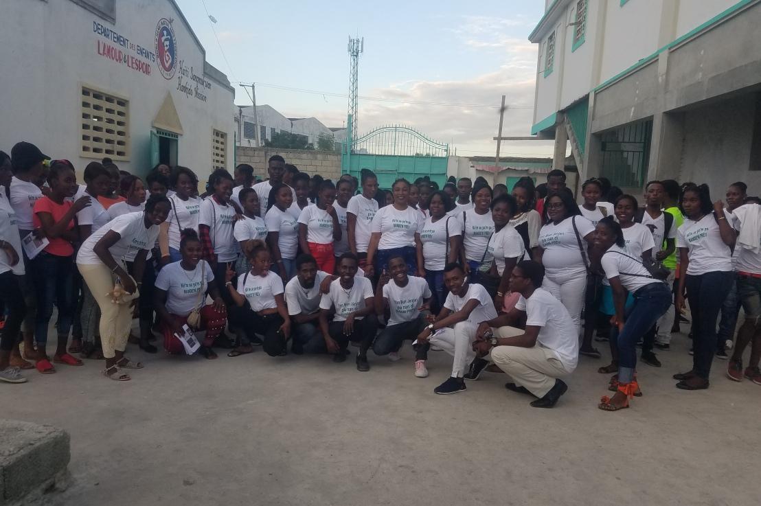 Lancement du Programme de Lutte contre les Violences faites au Femmes(PLUVIF) à CitéSoleil